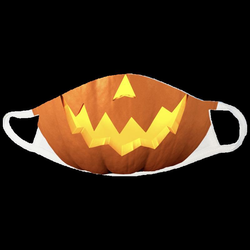 Jack-o'-lantern Halloween Face Mask - jack-o-lantern-halloween-face-mask