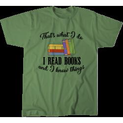 I Read Books Tshirt - 1