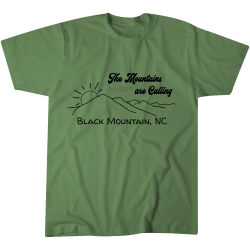 The Mountains are Calling Black Mountain Tshirt - 1