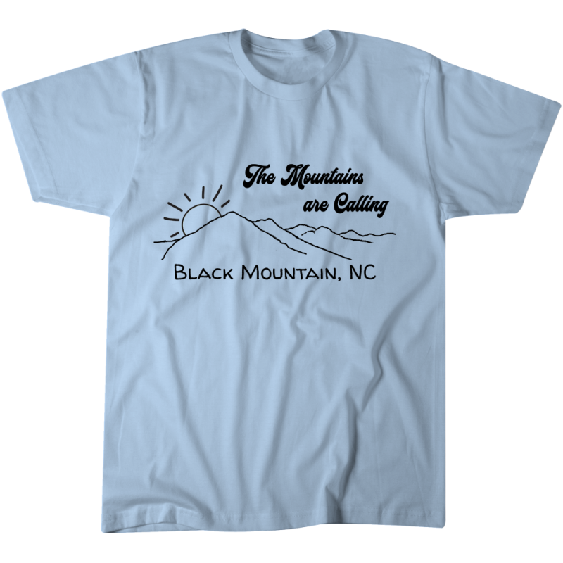 The Mountains are Calling Black Mountain Tshirt - 3